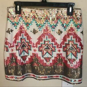 Miami sequined mini skirt